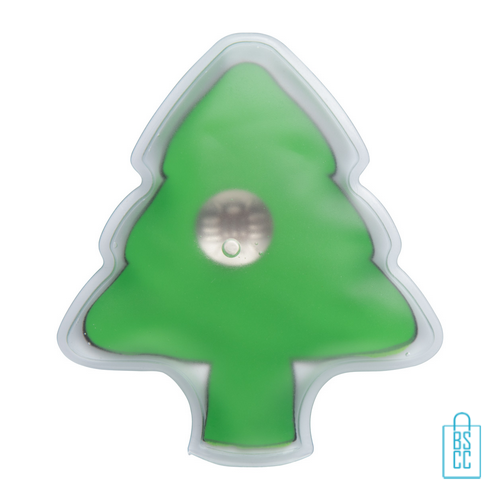 Warmtepad kerstboom met logo, goedkope kerst promo
