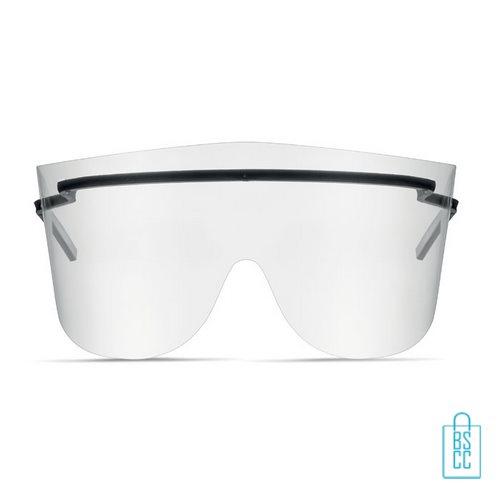 Anti-spat bril PET voorkant, corona bril goedkoop