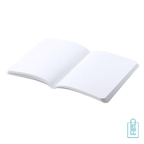 Antibacterieel notitieboekje A5 gebonden bedrukken met logo, corona kantoorartikelen