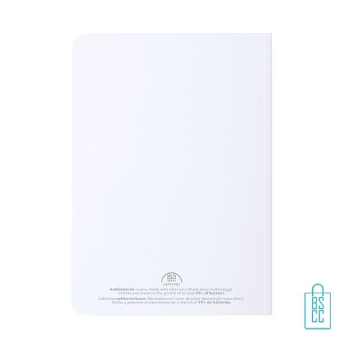 Antibacterieel notitieboekje A5 gebonden relatiegeschenk, corona kantoorartikelen