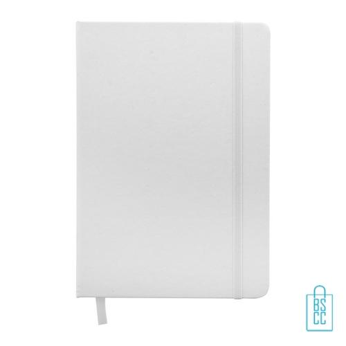 Antibacterieel notitieboekje A5 rubber band bedrukken corona, corona kantoorartikelen