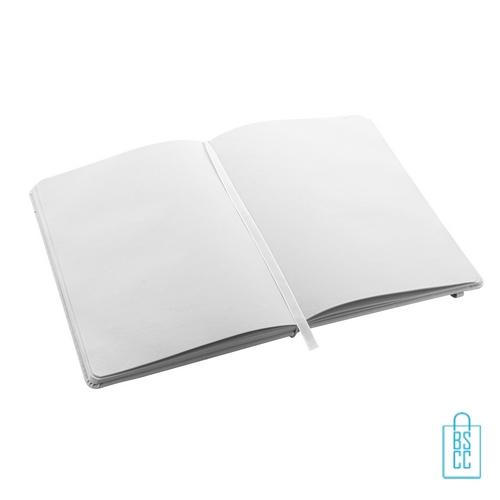 Antibacterieel notitieboekje A5 rubber band bedrukt covid, corona kantoorartikelen