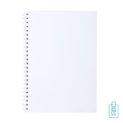 Antibacterieel spiraal notitieboekje A5 bedrukt met logo, corona relatiegeschenken