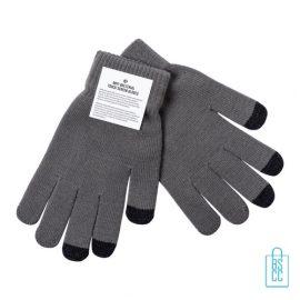 Antibacteriële handschoenen touchscreen bedrukken covid, corona relatiegeschenken