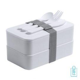 Antibacteriële lunchbox bedrukken witte, antibacteriële relatiegeschenken