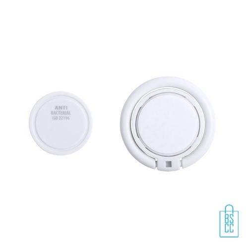 Antibacteriële mobiele telefoonhouder ring bedrukken goedkoop, antibacteriële relatiegeschenken