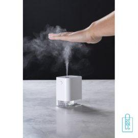 Automatische desinfectie spray dispencer bedrukken covid, corona bescherm artikelen