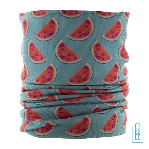 Corona sjaal op maat bedrukken custom made, desinfectie corona artikelen