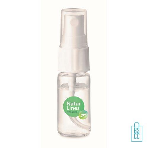 Desinfectie handspray 10ml 70% alc full color label, desinfectie artikelen goedkoop