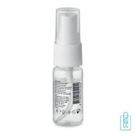 Desinfectie handspray 10ml 70% alc standaard labelling achterzijde, desinfectie artikelen goedkoop