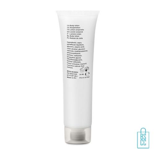 Hand body lotion 30ml bedrukt achterzijde, desinfectie artikelen goedkoop