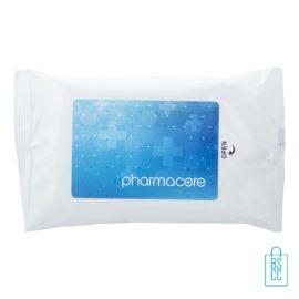 Hygiene natte doekjes bedrukken sticker, corona veiligheid artikelen