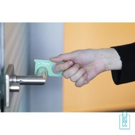 Hygiëne sleutel op maat bedrukken contactloos deur openmaken, corona veiligheid artikelen