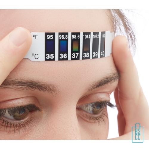 Koorts indicator bedrukken vb, thermometer bedrukken