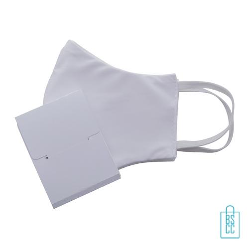 Mondkap cadeaudoosje L op maat wit onbedrukt, mondkapjes goedkoop