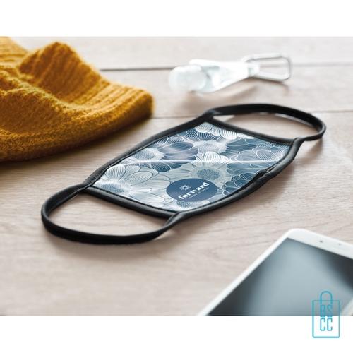 Mondkapje herbruikbaar polyester L-XL bedrukken custom made, gezichtsmaskers goedkoop
