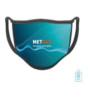 Mondkapje herbruikbaar polyester L-XL bedrukken relatiegeschenk met logo, gezichtsmaskers goedkoop