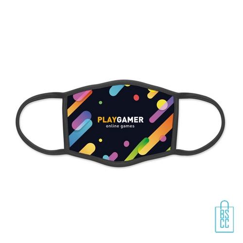 Mondkapje herbruikbaar polyester L-XL bedrukt logo, gezichtsmaskers goedkoop