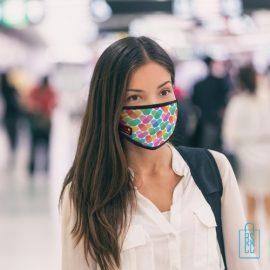 Mondkapje herbruikbaar polyester S-M bedrukken full color, gezichtsmaskers goedkoop