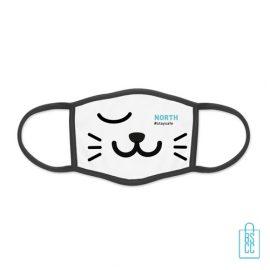Mondkapje herbruikbaar polyester S-M bedrukken met logo en tekst, gezichtsmaskers goedkoop