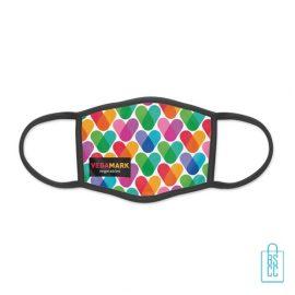 Mondkapje herbruikbaar polyester S-M bedrukt zelf ontwerpen, gezichtsmaskers goedkoop