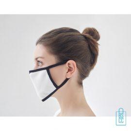 Mondkapje herbruikbaar polyester S-M onbedrukt, gezichtsmaskers goedkoop