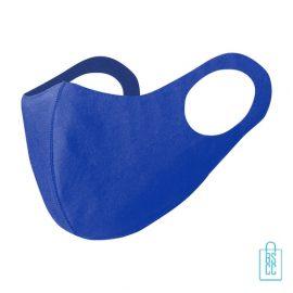 Mondkapje kinderen herbruikbaar bedrukken blauw, mondkapjes goedkoop