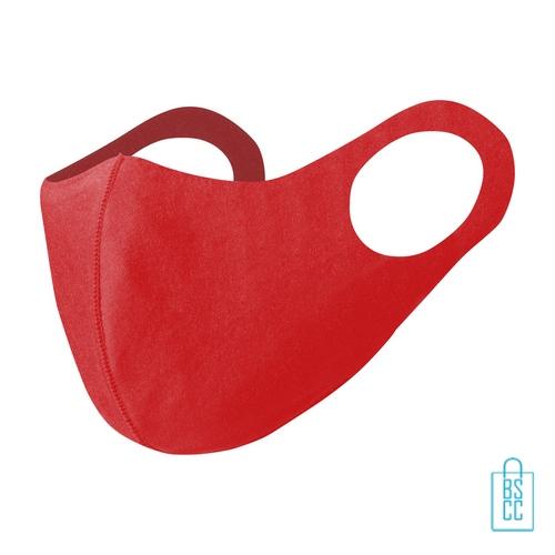 Mondkapje kinderen herbruikbaar bedrukken rood, mondkapjes goedkoop