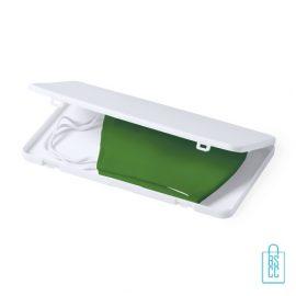 Mondkapje opbergdoosje plastic bedrukken hygienisch, mondkapjes goedkoop