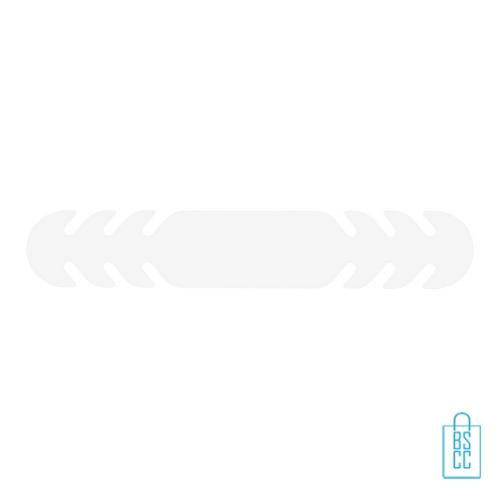 Mondkapje verlenger bedrukken wit, mondkapjes goedkoop