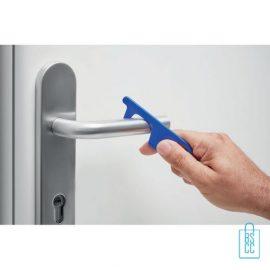 No touch ABS-sleutelhanger deurklink blauw, desinfectie artikelen goedkoop