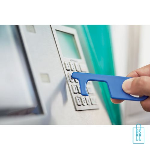 No touch ABS-sleutelhanger hygienisch geldautomaat blauw, desinfectie artikelen goedkoop