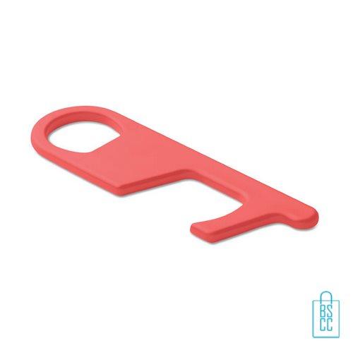 No touch ABS-sleutelhanger rood, desinfectie artikelen goedkoop