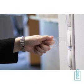 No touch sleutel hygienisch transparant lichtknoppen, corona bescherming artikelen