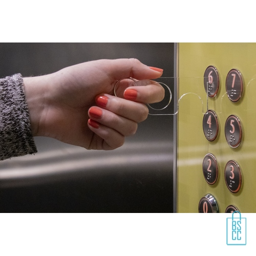 No touch sleutel hygienisch transparant liftknop, corona bescherming artikelen