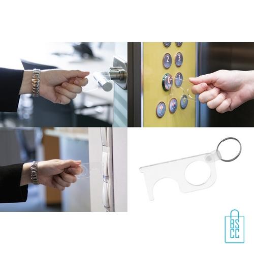 No touch sleutel hygienisch transparant voorbeelden, corona bescherming artikelen