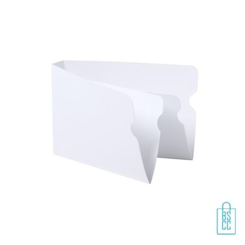 Opbergdoosje mondkap kunststof bedrukken wit, corona proof producten