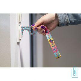 Polsband hygiëne sleutel op maat bedrukken deur, corona preventie artikelen