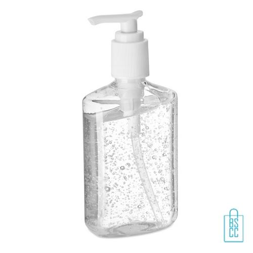 Pompfles handreinigingsgel alcoholvrij 240ml bedrukken lavel, desinfectie artikelen goedkoop