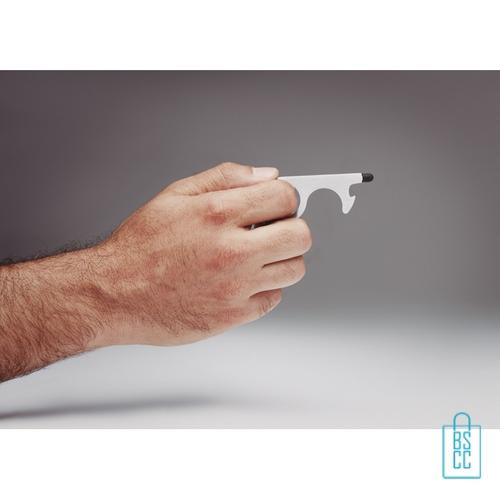 Sleutelhanger multi hygiëne bedrukken in hand, corona bescherming