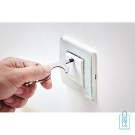 Sleutelhanger multi hygiëne bedrukken lichtknoppen bedienen, corona bescherming