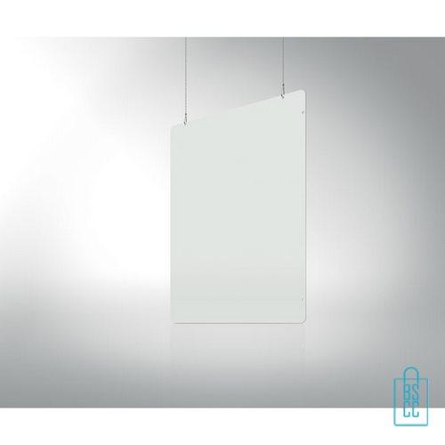 Spatscherm 94x74 hangend, winkel anti-spat scherm goedkoop
