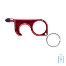 Touch screen hygiëne sleutel bedrukt, corona preventie artikelen