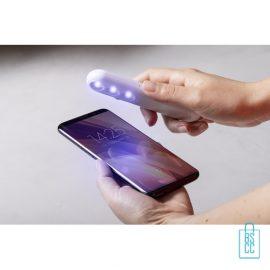 UV-sterilisatorlamp bedrukken mobieltje, corona relatiegeschenken