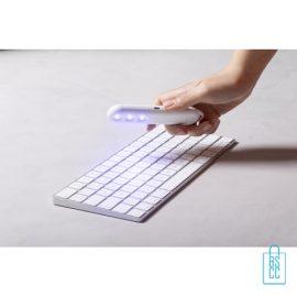 UV-sterilisatorlamp bedrukken toetsenbord, corona relatiegeschenken