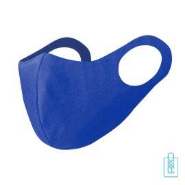 Wasbaar softshell gezichtsmasker bedrukken blauw, mondkapjes bedrukken