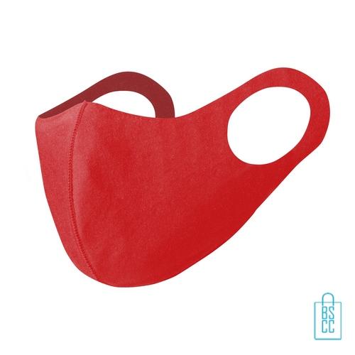 Wasbaar softshell gezichtsmasker bedrukken rood, mondkapjes bedrukken