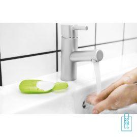 Zeepblaadjes doosje bedrukken handen wassen, zeep bedrukken